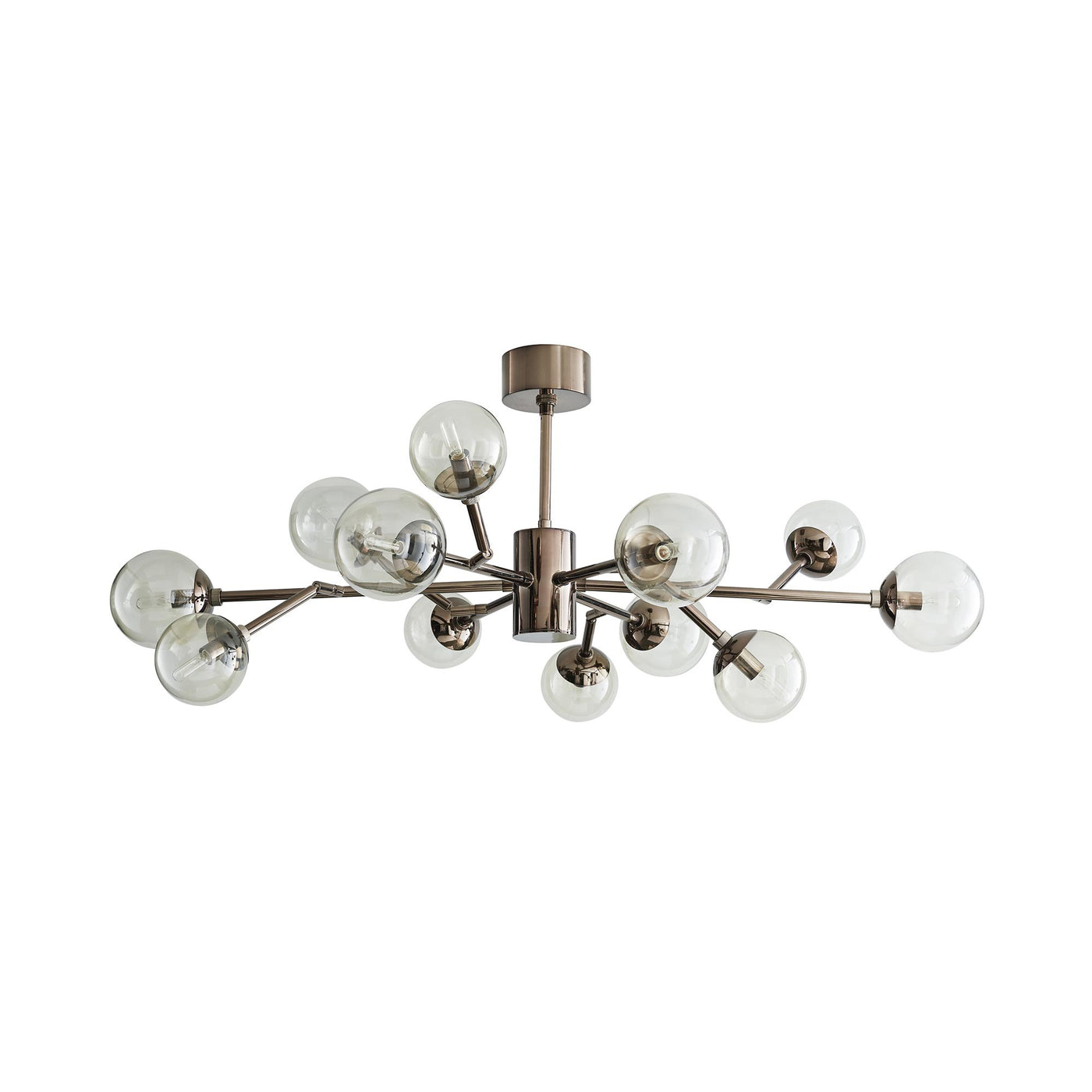 Arteriors Home Dallas Small Chandelier Nickel Glass Lighting Clear