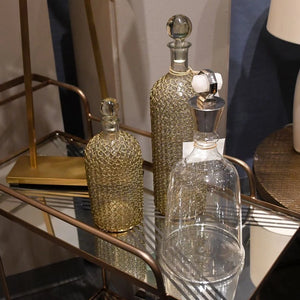 arteriors drexel decanters glass brass chain bar supplies