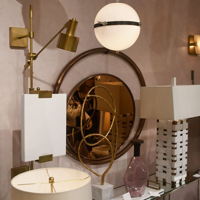 arteriors home eclipse mirror rose gold finish