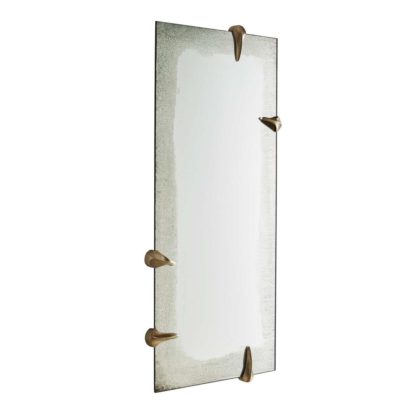 Arteriors Home Edged Talon Mirror Brass Floor Antiqued Cle