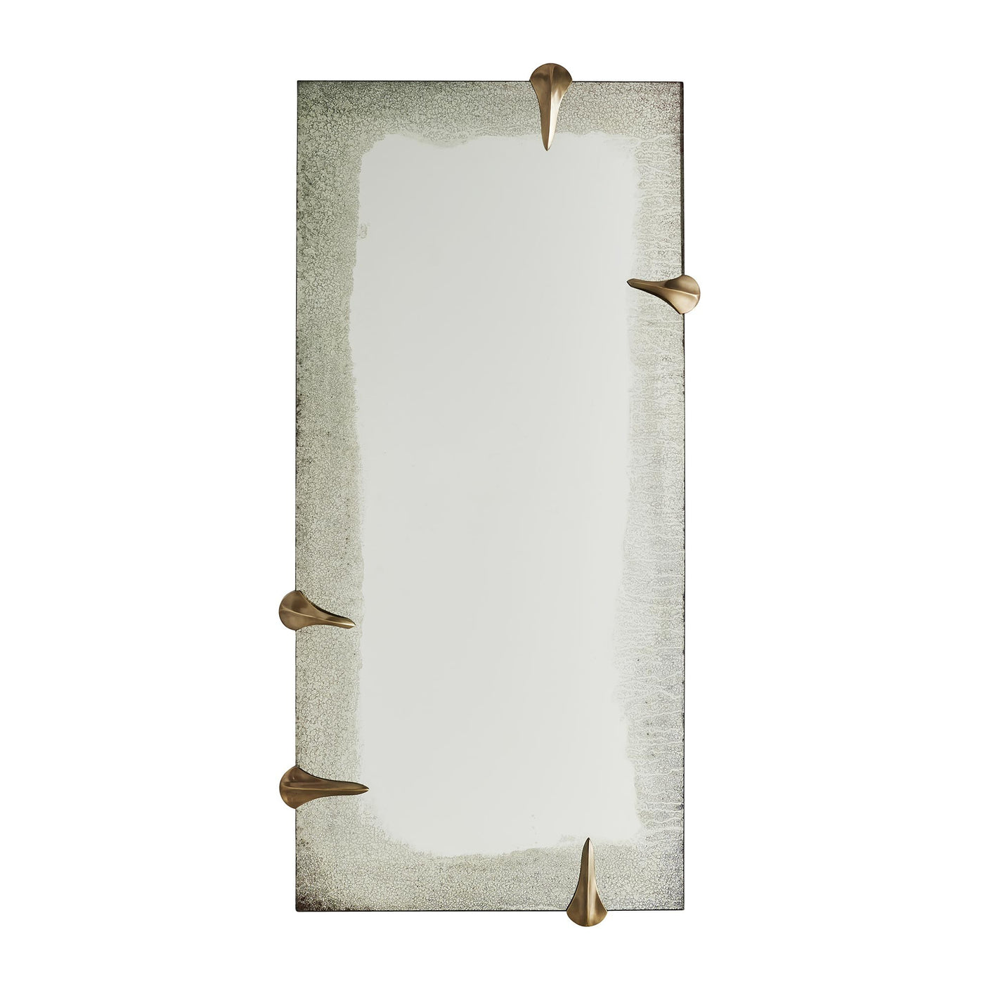 Arteriors Home Edged Talon Mirror Brass Floor Antiqued Clear