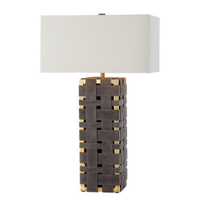 arteriors home elis table lamp DS12010-111 table lamp, table lamps, table lamps for living room, table lamps for bedroom, modern table lamps, modern table lamp, bedside table lamps, contemporary table lamps, bedroom table lamps, skinny table lamp, tall skinny table lamp, end table lamp, angle view