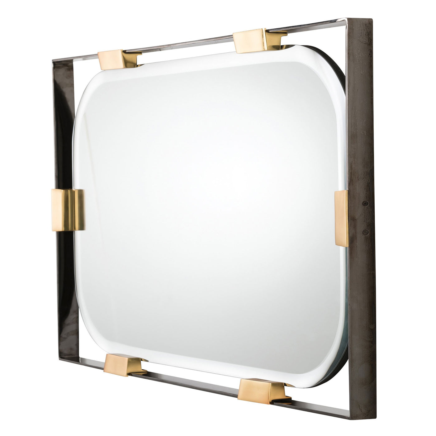 arteriors home frankie rectangular mirror DJ2049 mirrors, wall mirrors, long wall mirrors, modern bathroom mirrors, large wall mirrors, bedroom mirrors, unique mirrors, bathroom wall mirrors, horizontal, side view