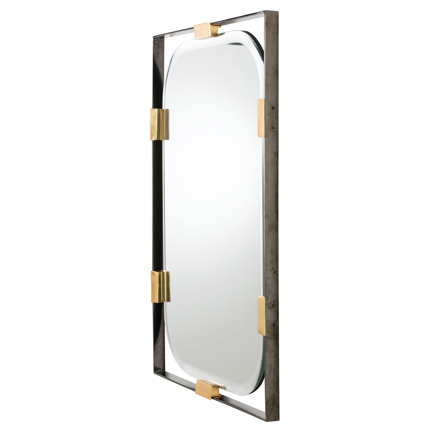 arteriors home frankie rectangular mirror DJ2049 mirrors, wall mirrors, long wall mirrors, modern bathroom mirrors, large wall mirrors, bedroom mirrors, unique mirrors, bathroom wall mirrors side view