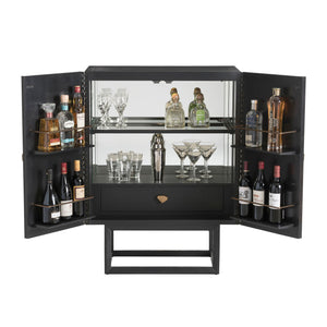 arteriors home gatsby cocktail cabinet storage DJ5010 open full cabinet storage cocktails