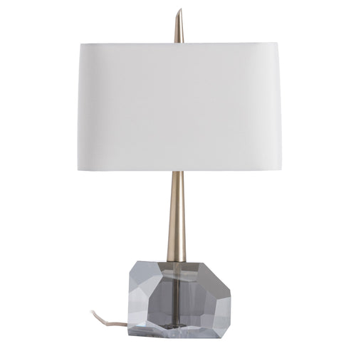 arteriors home gemma table lamp smoke crystal