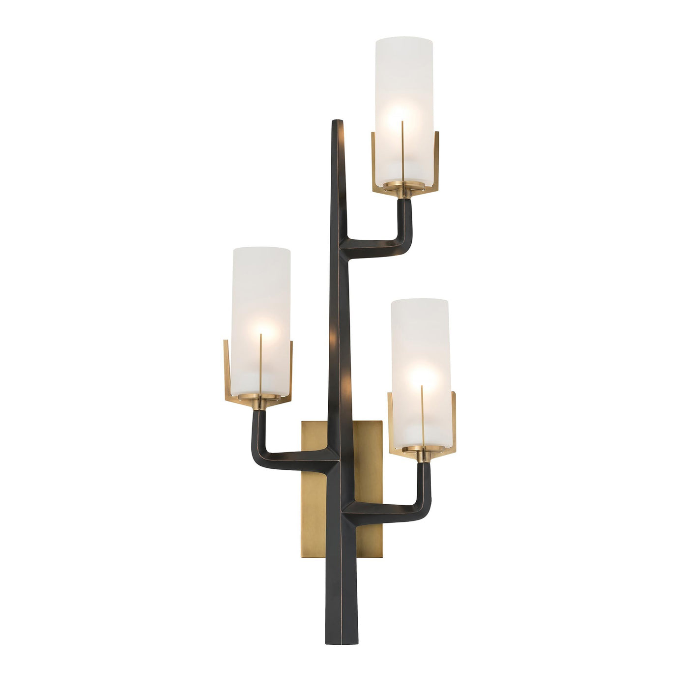 arteriors home griffin sconce black iron wall light