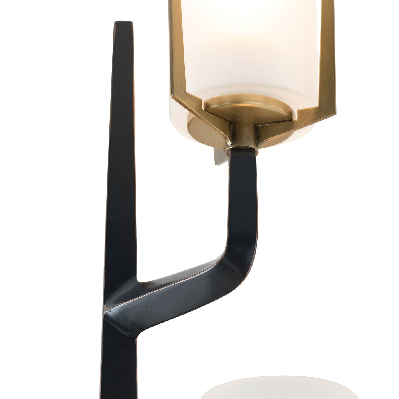arteriors home griffin sconce frosted shade light