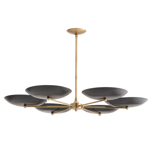 arteriors home griffith chandelier black brass