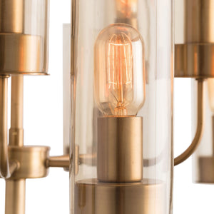 arteriors home hammond  chandelier glass shade bulb closeup
