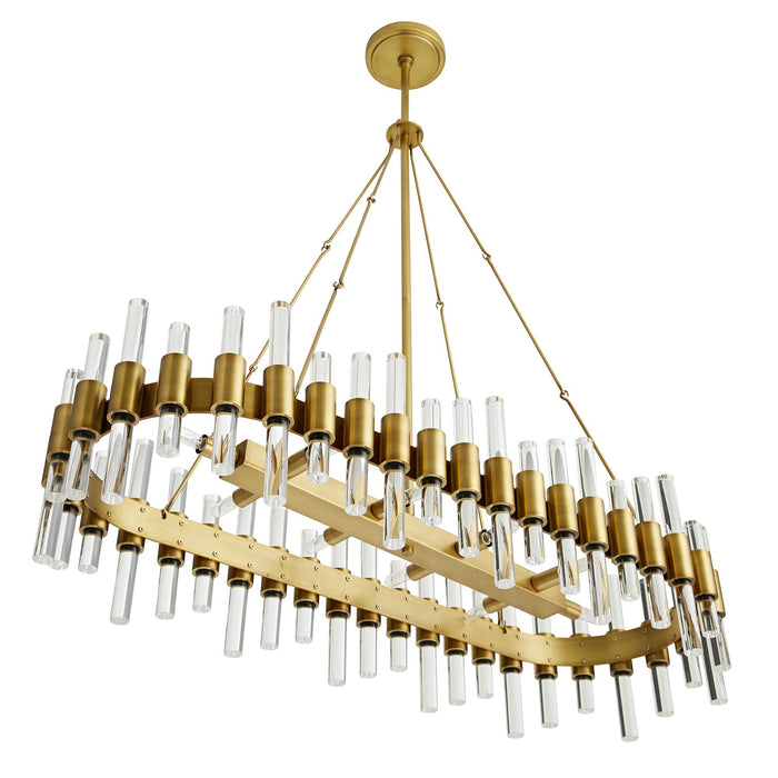 arteriors home haskell oval chandelier bottom