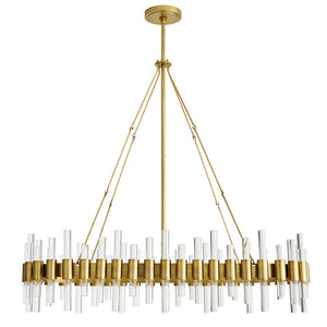 arteriors home haskell oval chandelier full view