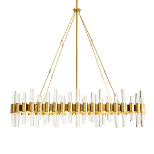 arteriors home haskell oval chandelier illuminated