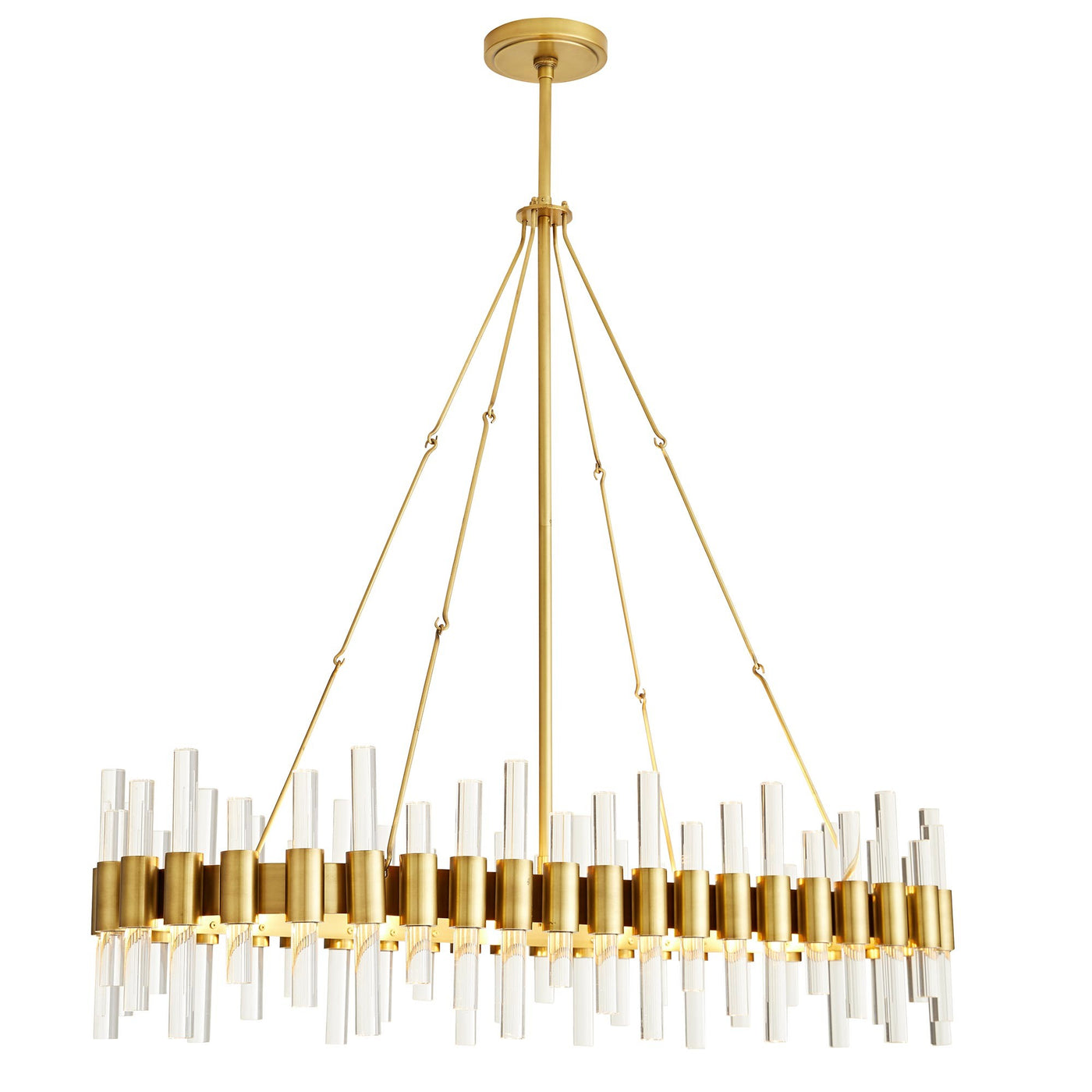 arteriors home haskell oval chandelier full view side