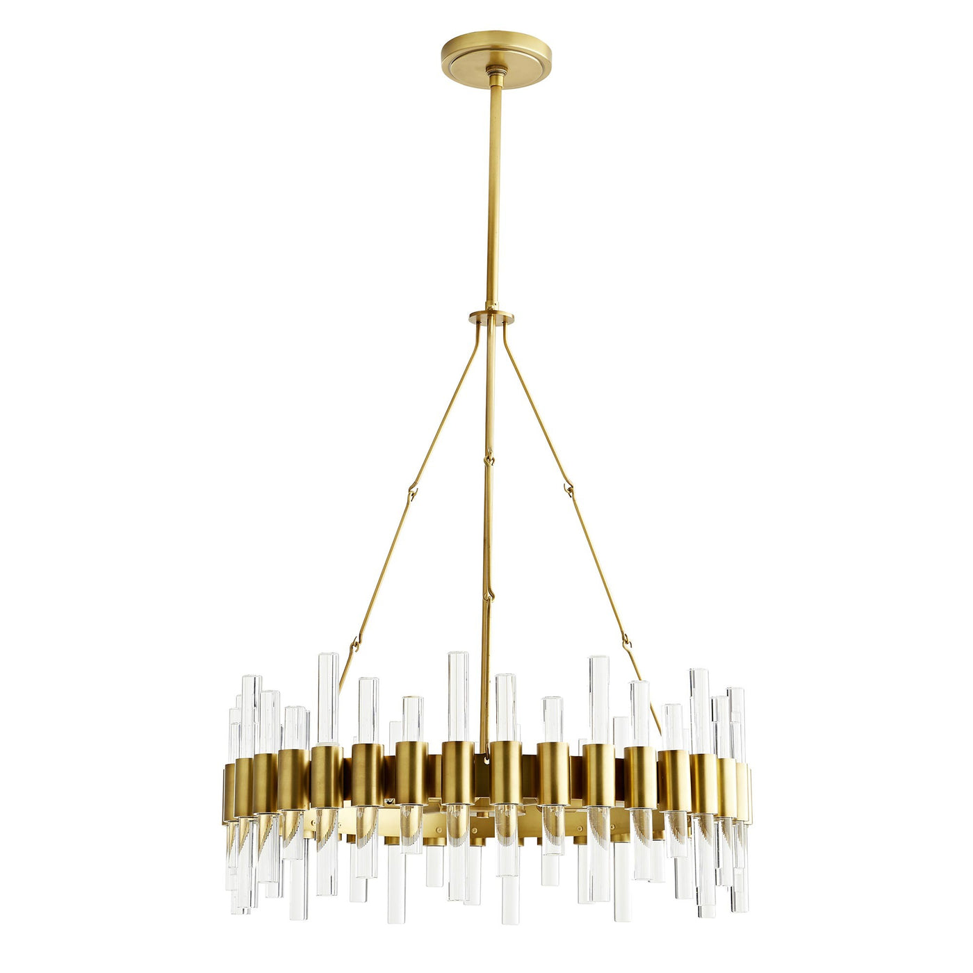 Arteriors Home Haskell Small Chandelier Hanging Antique Brass Steel