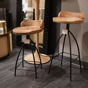 arteriors home hinkley bar stool detail