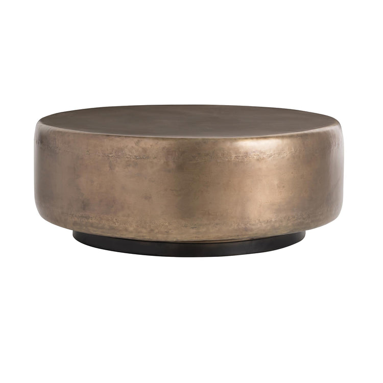 arteriors home hightower cocktail table bronze round