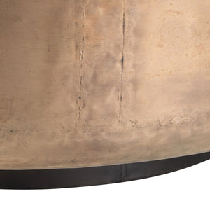 arteriors home bronze base close up round coffee