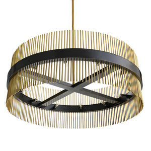 arteriors home hozier chandelier antique brass bottom