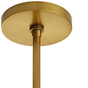 arteriors home hozier chandelier antique brass ceiling