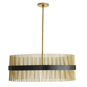 arteriors home hozier chandelier antique brass full view