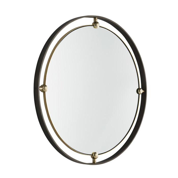 Arteriors Home Janey Round Mirror Brass Iron Round Gold