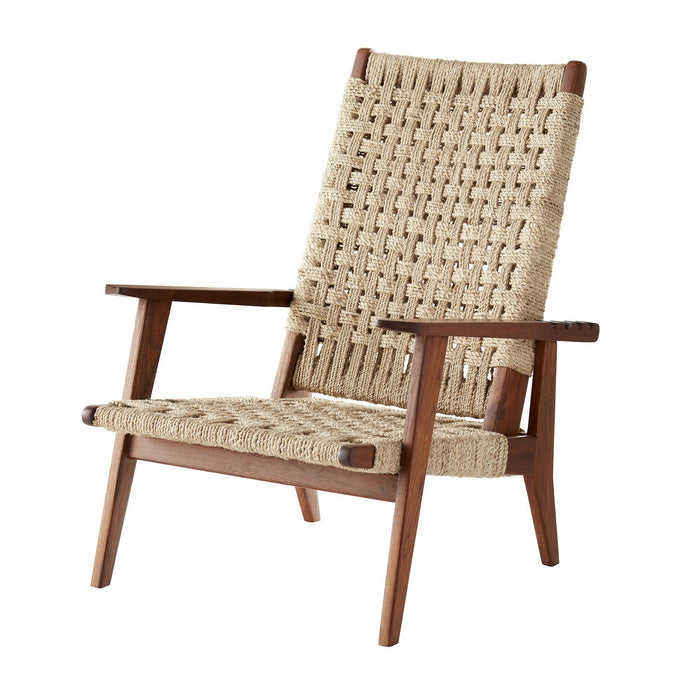 Arteriors Home Jericho Reclining Chair Woven Jute Wood