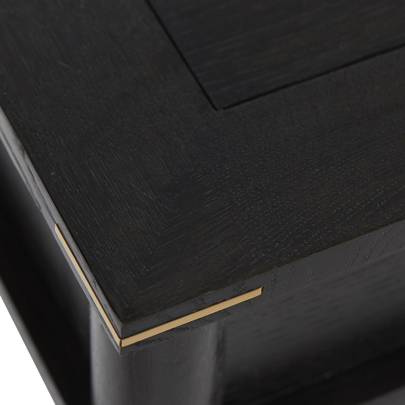 Arteriors Home Jobe Black Brass Oak Ebony Gold Detail