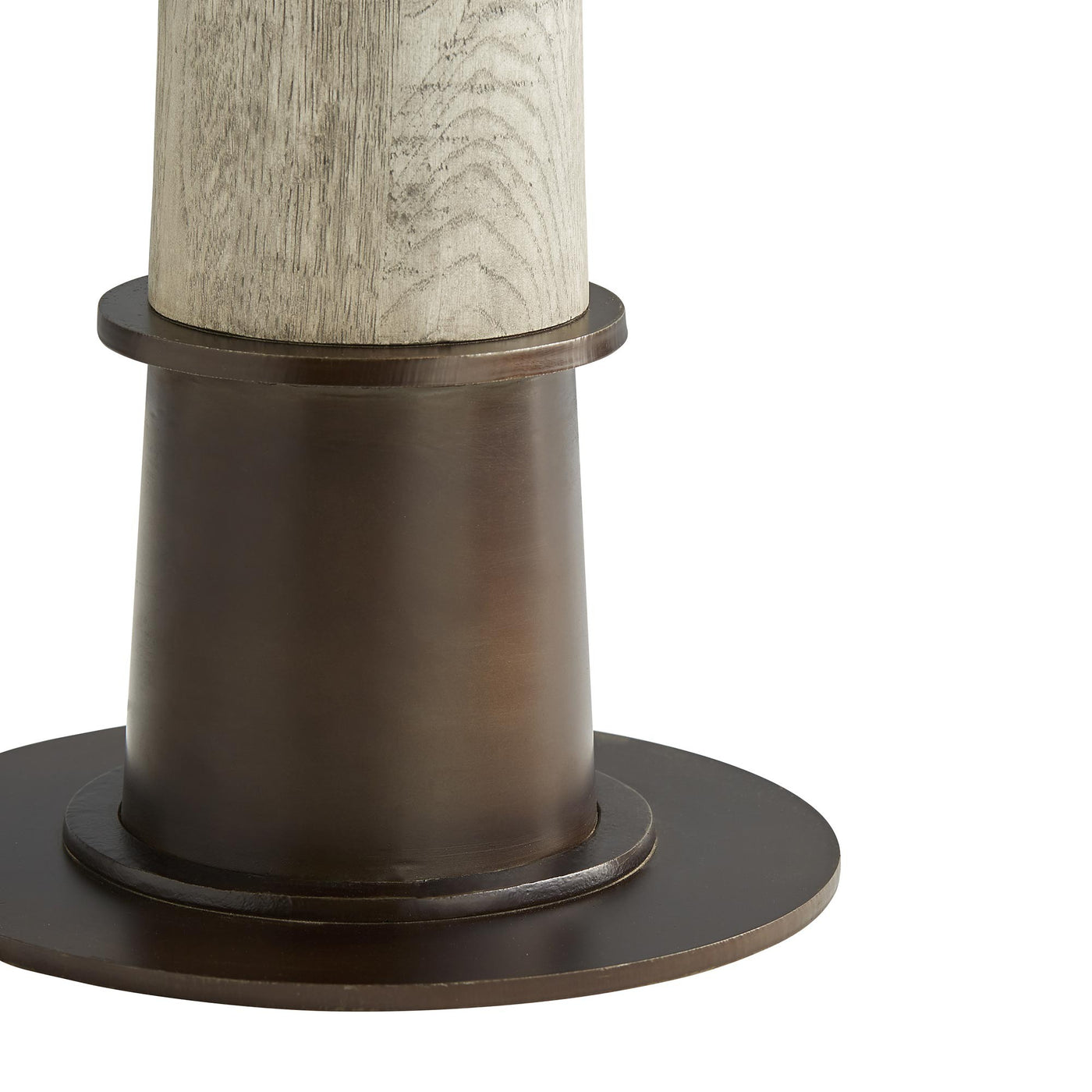 arteriors home kamile side table base detail