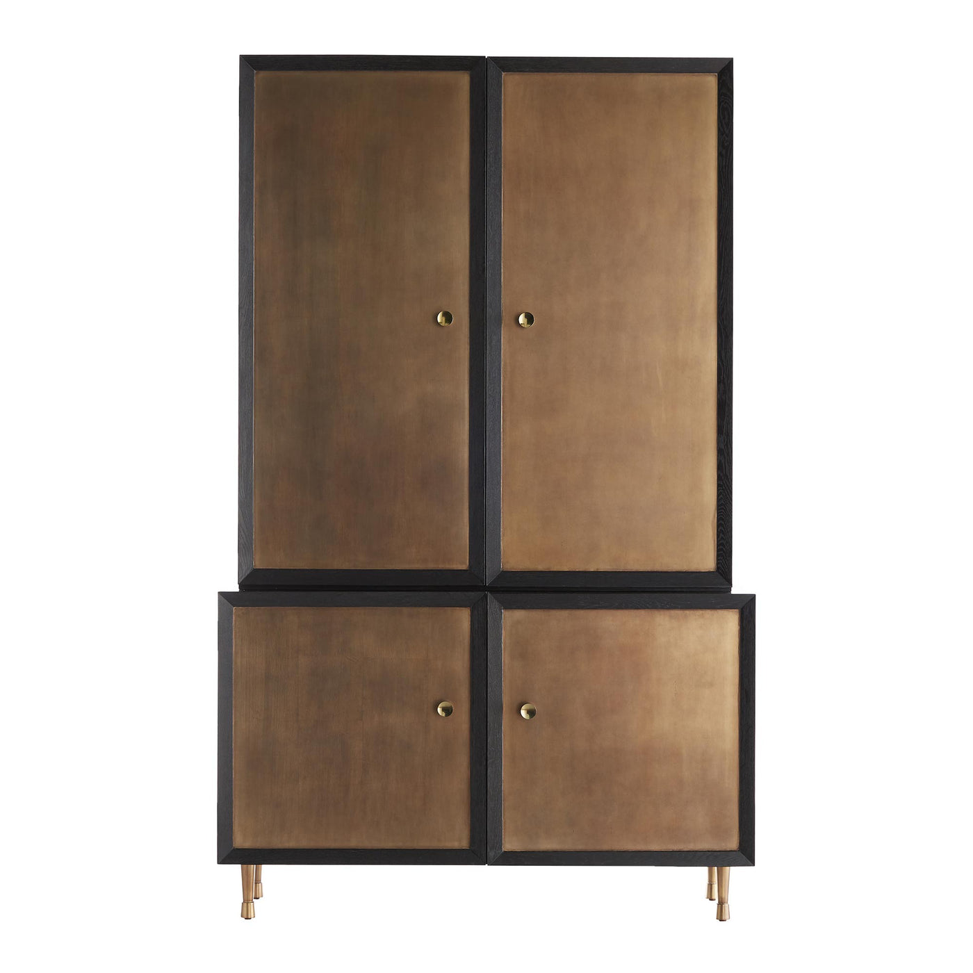 Arteriors Home Kilpatrick Tall Cabinet Gold Black Ebony Oak