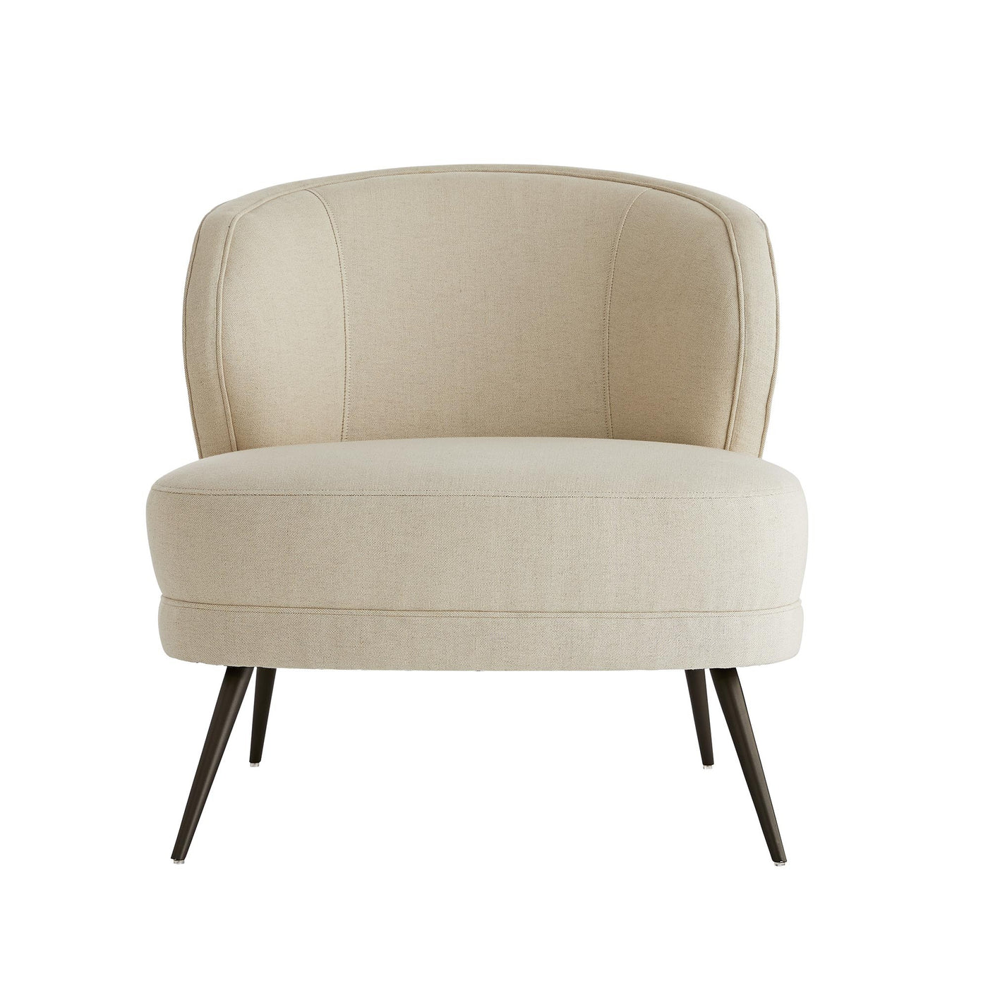 arteriors home kitts chair flax linen front