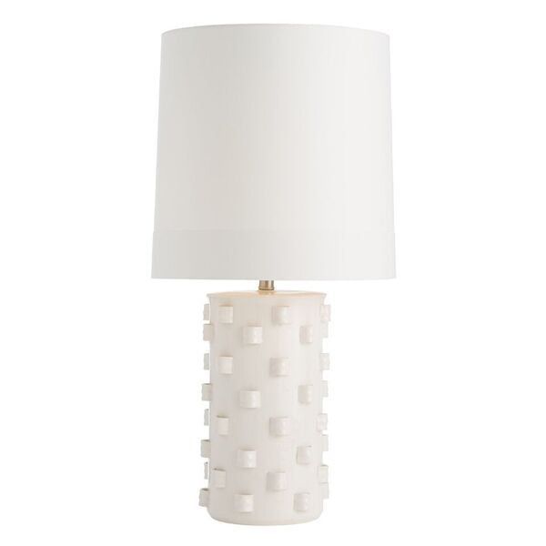 arteriors home robertson table lamp porcelain ivory crackle finish