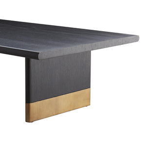 Arteriors Home Lawson Coffee Table Ebony Brass Oak Gold
