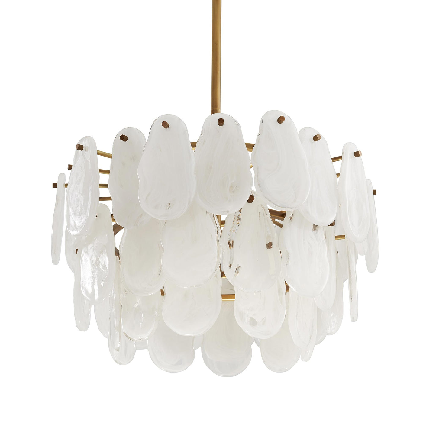 Arteriors Home Leon Chandelier Glass Brass Antique Light