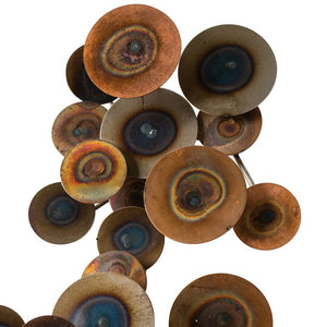 arteriors home rizzo wall sculpture close up round circles