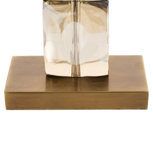 arteriors home philomena table lamp crystal brass 49945-281 brass base