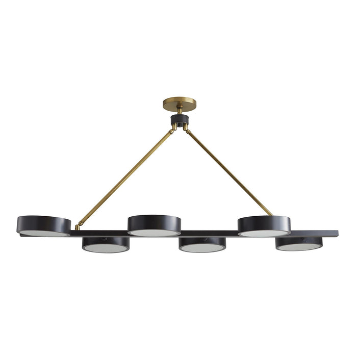Arteriors Home Linus Chandelier Steel Antique Brass Gold