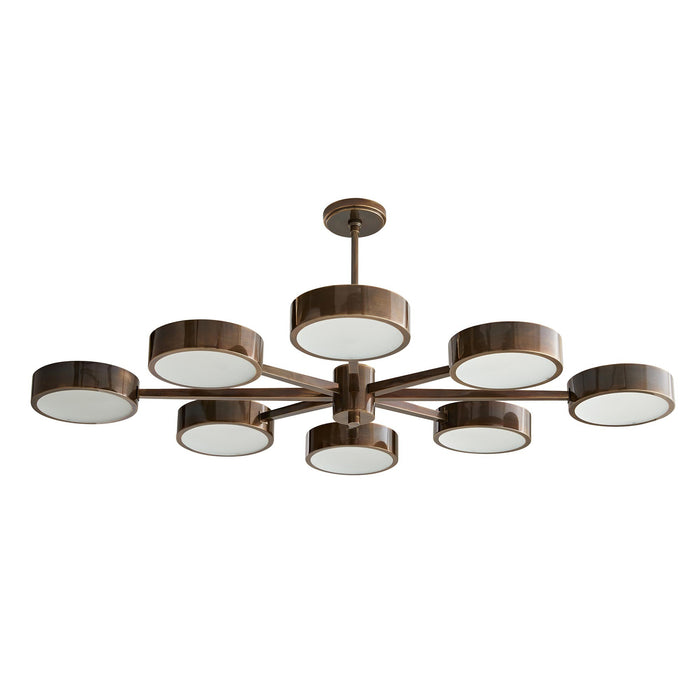 arteriors home linus starburst chandelier heritage brass bottom
