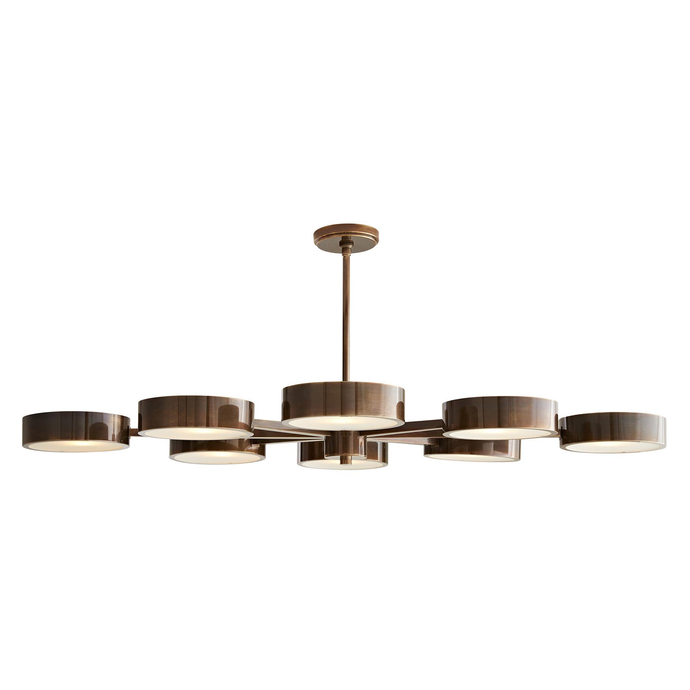 arteriors home linus starburst chandelier heritage brass illuminated