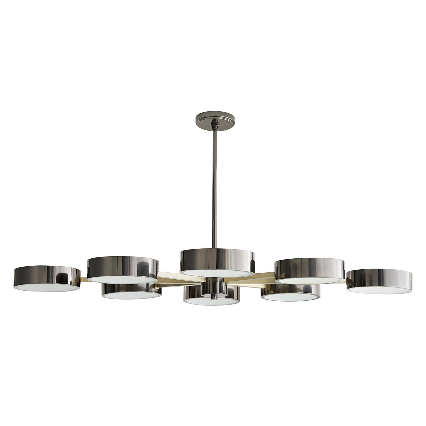 arteriors home linus starburst chandelier pale brass