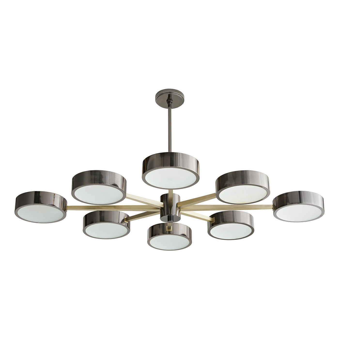arteriors home linus starburst chandelier pale brass bottom