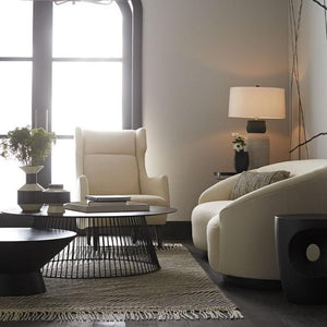 arteriors home lou coffee table room display