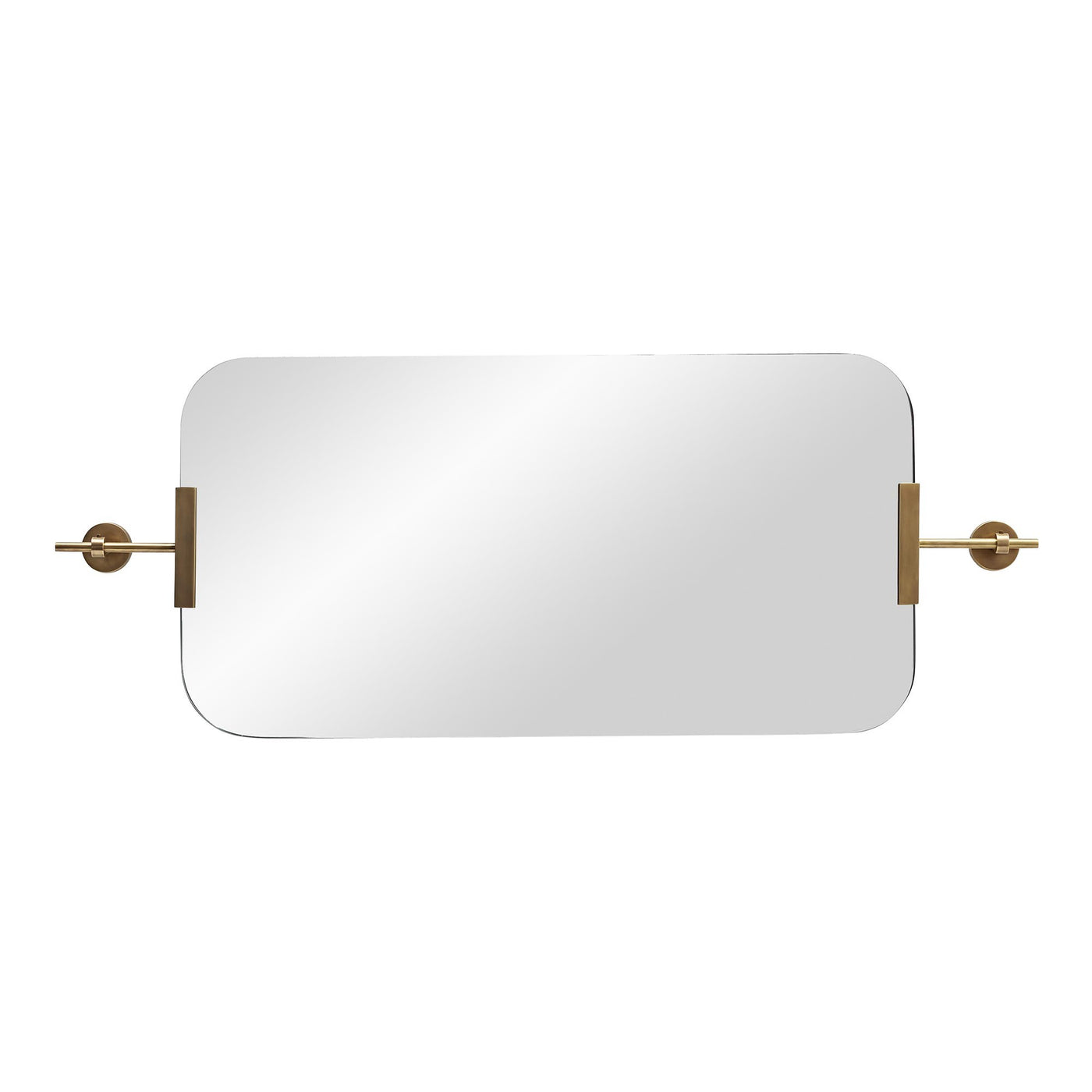 arteriors home marshall mirror antique brass horizontal