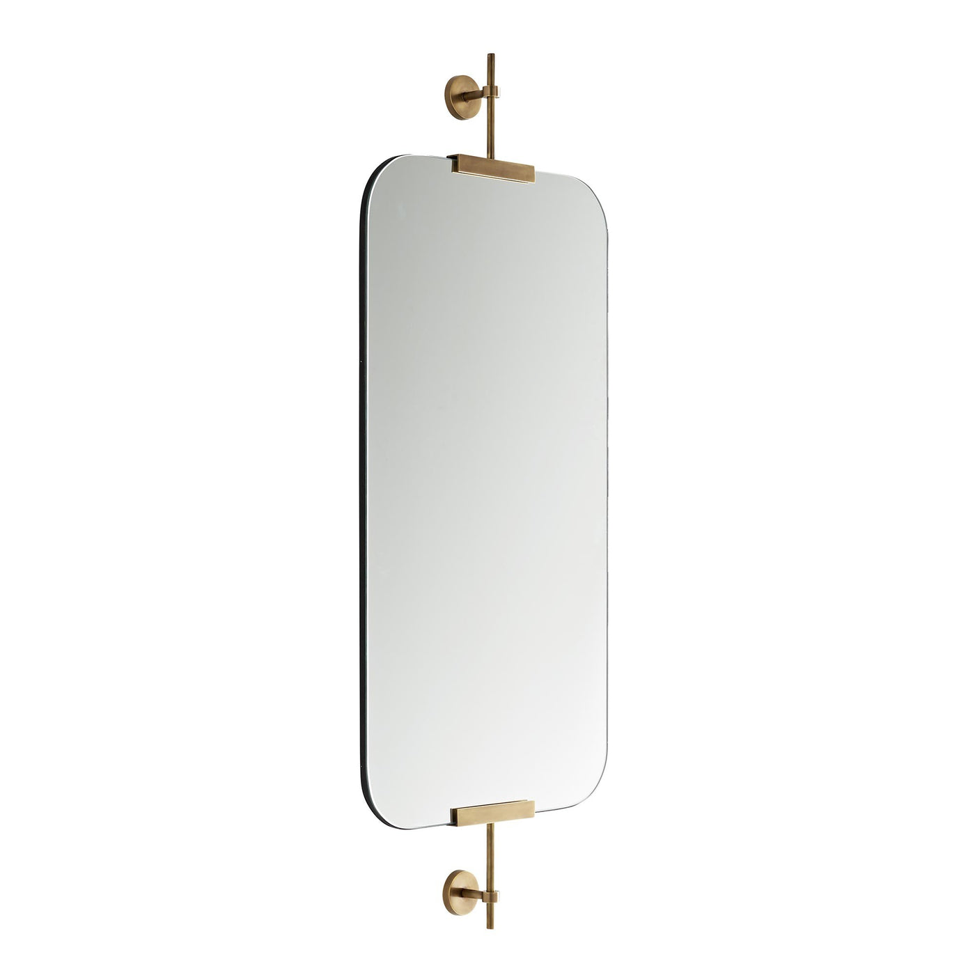 arteriors home marshall mirror antique brass side