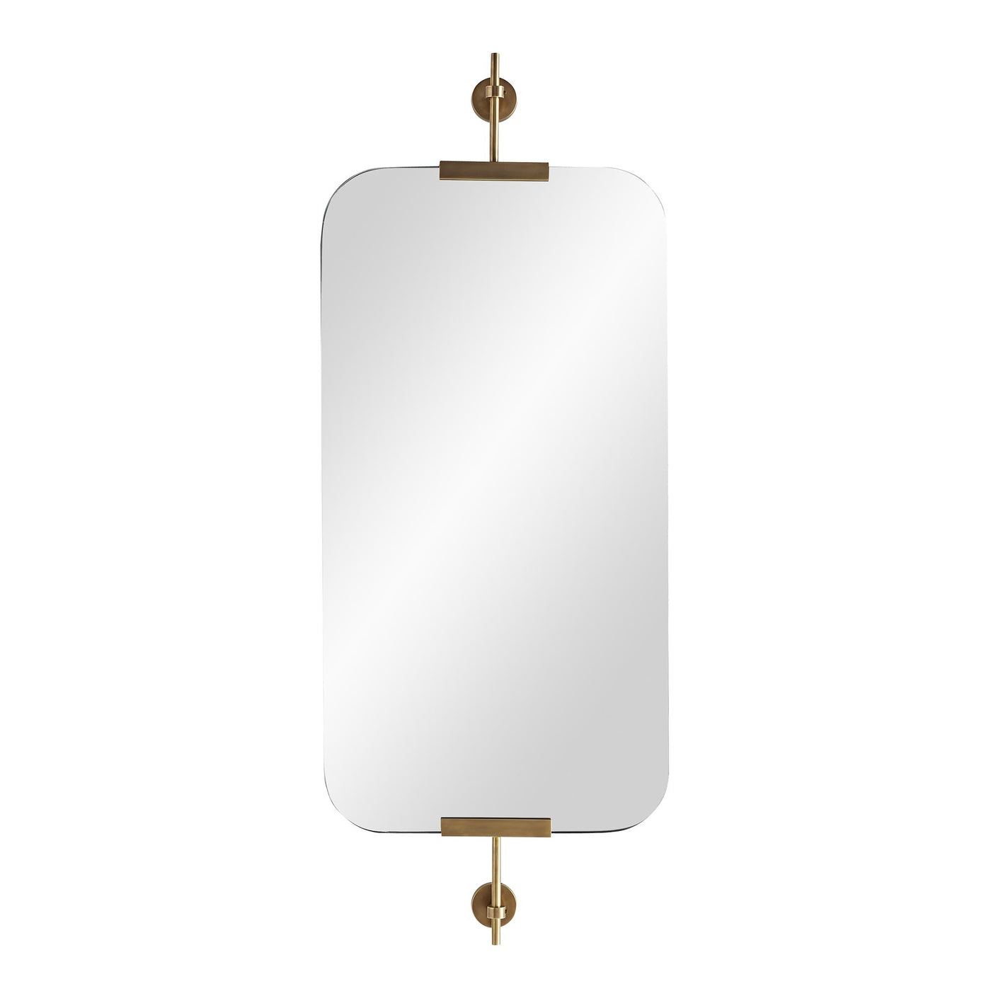 arteriors home marshall mirror antique brass