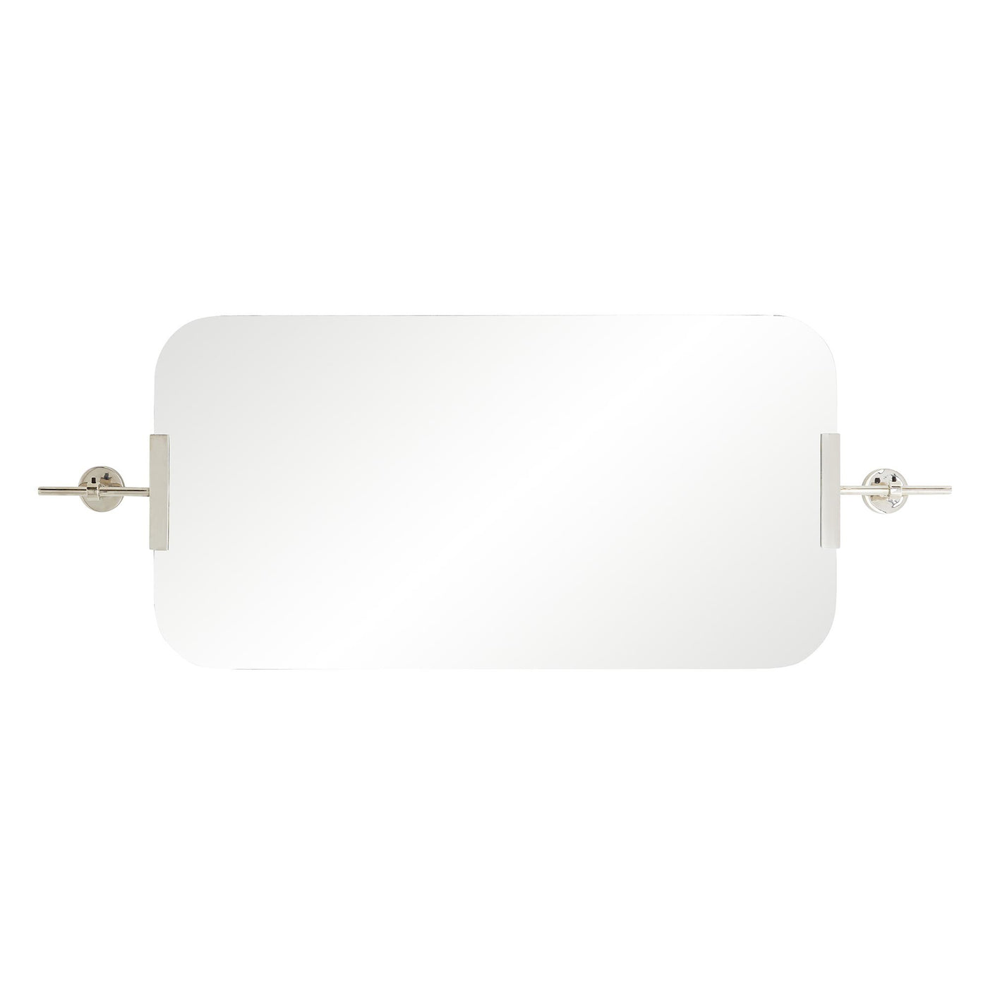 arteriors home madden mirror polished nickel horizontal