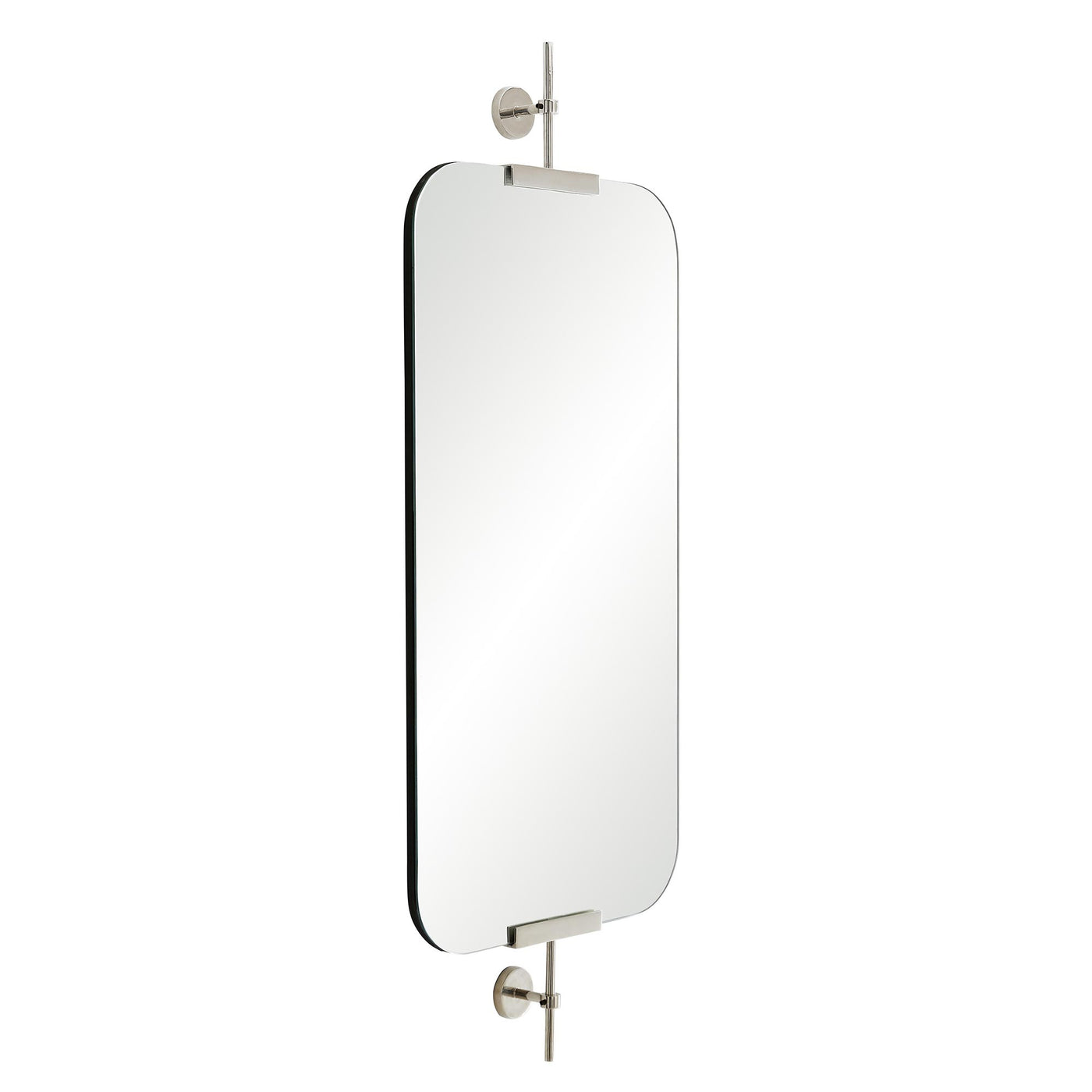 arteriors home madden mirror polished nickel side