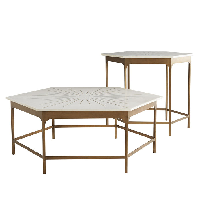 arteriors home mae end table with mae coffee table