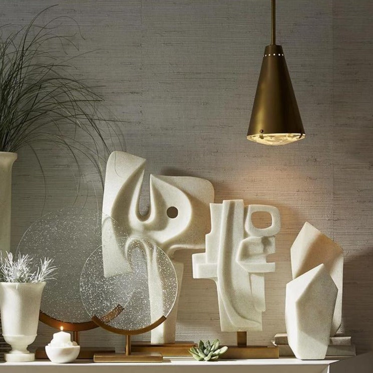 arteriors home maeve and martin and nerine sculpture styled