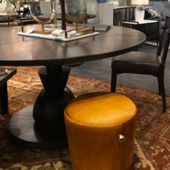 Arteriors Home Mahoun Dining Table Round Oak Umber Desk market